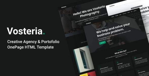 Vosteria - Creative Agency & Portofolio OnePage HTML Template - Creative Site Templates