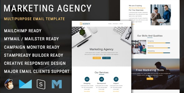 Marketing Agency - Responsive Email Template with Mailchimp Editor - Newsletters Email Templates