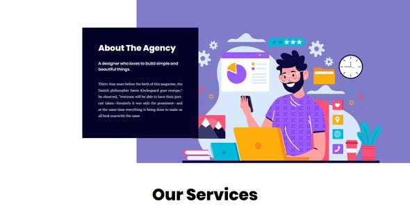 Coax - Agency And Personal About Us Elementor Template Kit