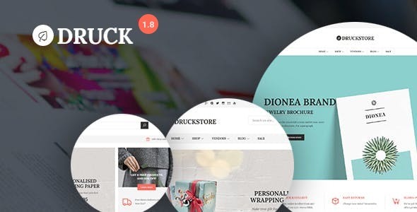 Druck - Print shop WooCommerce WordPress Theme - WooCommerce eCommerce