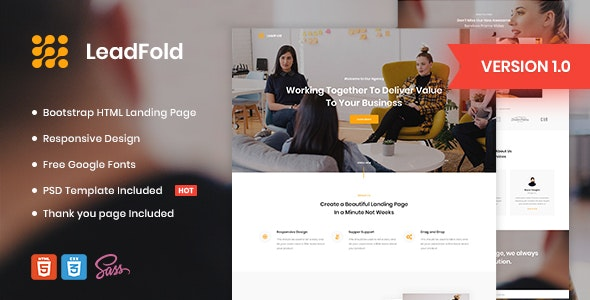 LeadFold - Lead Generation HTML Landing Page Template - Marketing Corporate