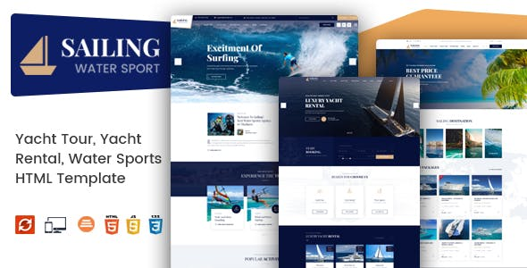 Sailing - Yacht and Boat Rental HTML Template