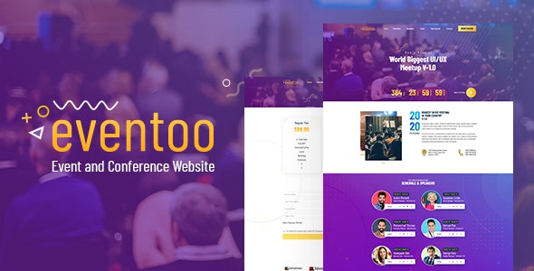Eventoo - Event React Template - Events Entertainment