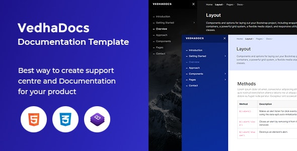VedhaDocs - Documentation and Knowledge Base Template - Software Technology