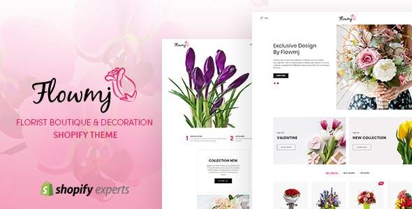 Flowmj - Florist Boutique & Decoration Store Shopify Theme