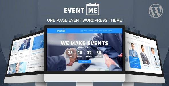 EventMe - Corporate Event Landing Wordpress Theme - Marketing Corporate