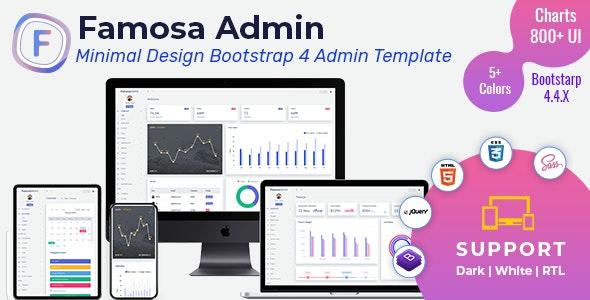 Famosa Admin Template Dashboard Web Apps - Admin Templates Site Templates
