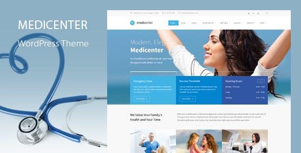 MediCenter - Health Medical Clinic WordPress Theme