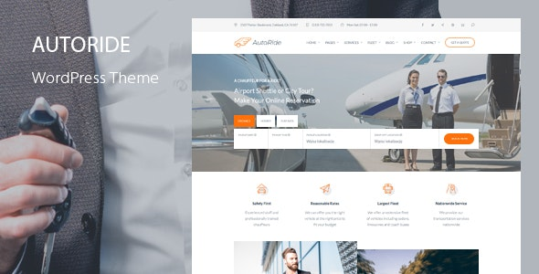 AutoRide - Chauffeur Booking WordPress Theme - Business Corporate