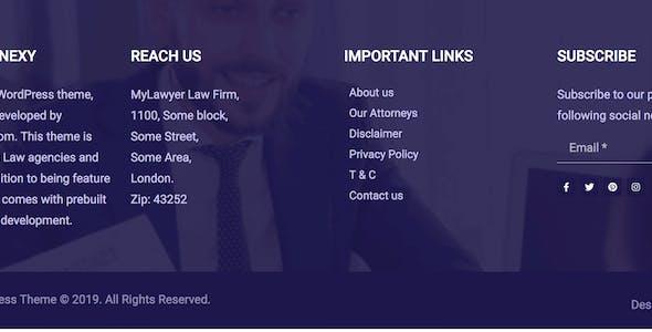 Venexy - Lawyer Elementor Kit