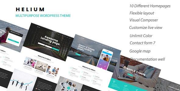Helium - 10 in 1 Marketing WordPress Theme - Marketing Corporate