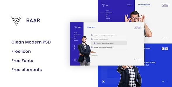 Baar - Personal PSD Template - Personal PSD Templates