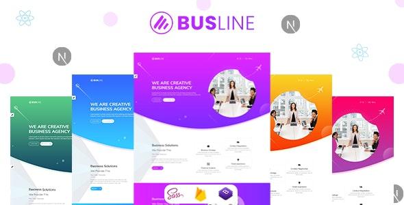 BusLine React Next Business Landing Page