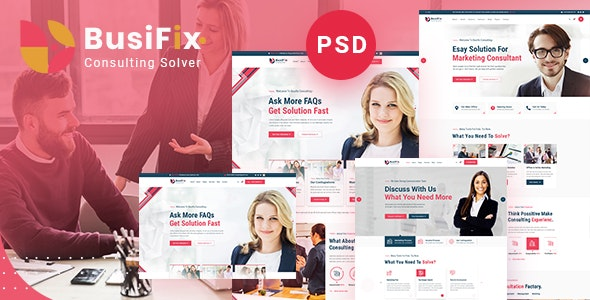 Busifix | Consulting PSD Template - Business Corporate