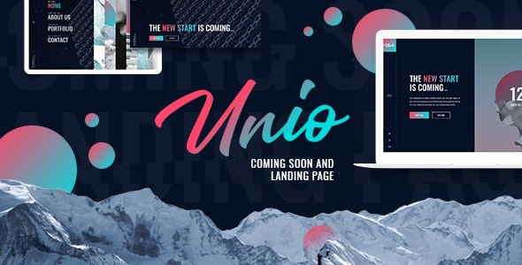 Unio - Coming Soon & Landing Page Template - Under Construction Specialty Pages