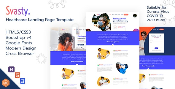 Svasty Healthcare Landing Page Template - Landing Pages Marketing