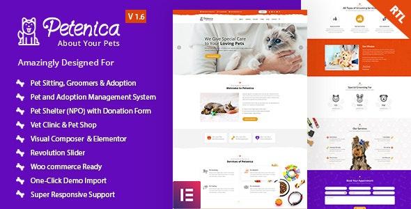 Petenica: Pet Sitter and Adoption WordPress Theme - Charity Nonprofit