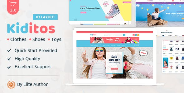 Kiditos - Baby and Kids Multi Store OpenCart Theme