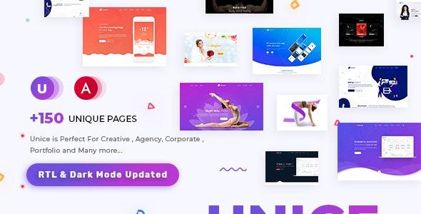 Unice - Multipurpose Angular 10 Template for SaaS, Startup & Agency - Portfolio Creative
