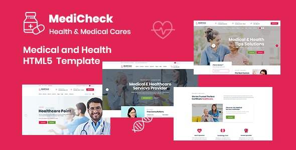 Medicheck – Medical and Health HTML5 Template - Health & Beauty Retail