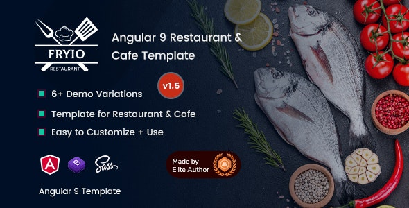Fryio - Angular 9 Restaurant & Cafe Template - Food Retail