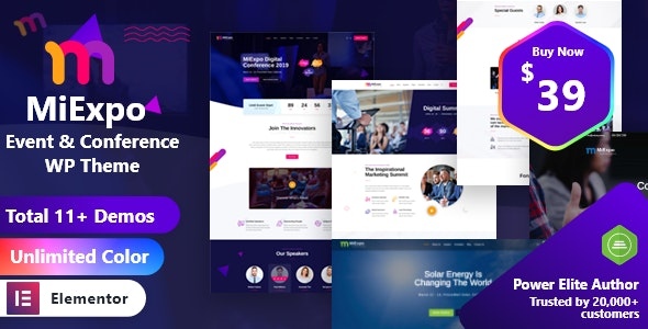 MiExpo | Event Conference Elementor WordPress Theme - Events Entertainment