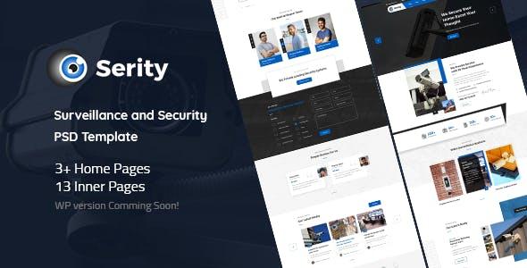 Serity - Surveillance and Security Cameras PSD Template