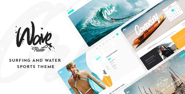 Download WaveRide - Surfing and Water Sports Theme