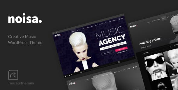 Noisa - Music Producers, Bands & Events Theme for WordPress