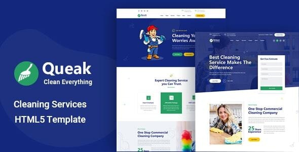 Queak - Cleaning Service HTML Template - Business Corporate