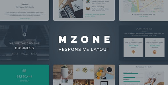 Mzone Responsive Newsletter Email Template For Business - Newsletters Email Templates
