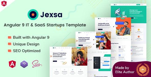 Jexsa - Angular 9 IT & SaaS Startups Template - Technology Site Templates