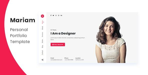Mariam - Personal Portfolio Template - Personal Site Templates