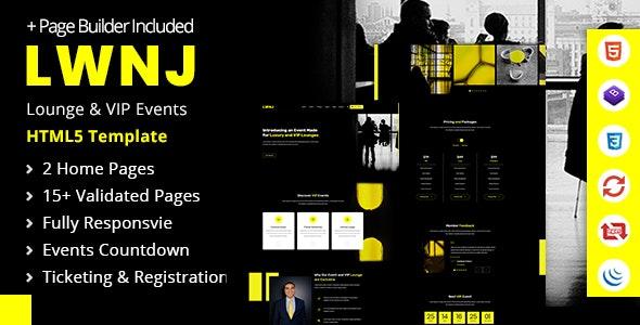 Lwnj | Responsive Multipurpose Lounge HMTL5 Template - Entertainment Site Templates