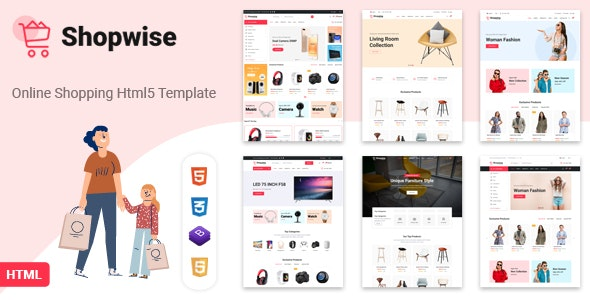 Shopwise - eCommerce Bootstrap 4 HTML Template - Shopping Retail