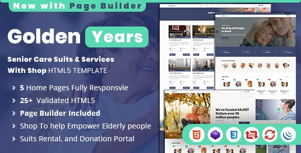 Golden Years | Responsive Senior Care HTML Template - Health & Beauty Retail