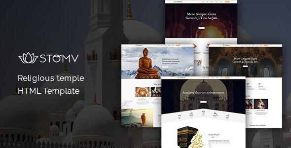 Stomv - Religious temple HTML Template - Nonprofit Site Templates