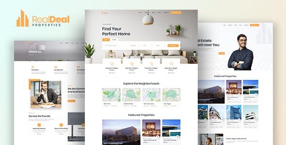 Realdeal – Modern Real Estate HTML template