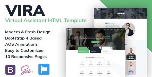 VIRA - VIrtual Assistant HTML Template - Technology Site Templates