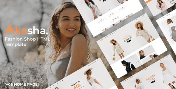 Akasha - Fashion Shop HTML Template - Fashion Retail