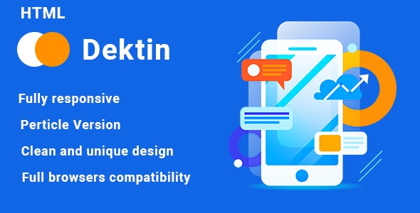 Dektin - App Landing Page - Software Technology