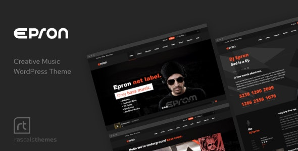 Epron - Music Theme for WordPress - Music and Bands Entertainment