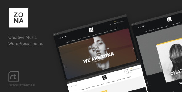 Zona - Music WordPress Theme with Ajax and Continuous Playback - Music and Bands Entertainment