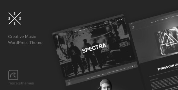 Spectra - Music Theme for WordPress - Music and Bands Entertainment