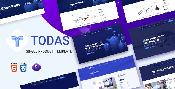 Todas - Single Product HTML Template