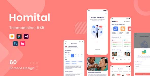 Homital - Telemedicine UI Kit - Sketch Templates