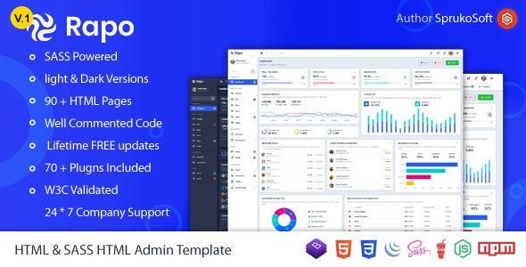 Rapo -  HTML5 Bootstrap Admin Template - Admin Templates Site Templates