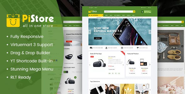 PiStore - Multipurpose eCommerce VirtueMart Template