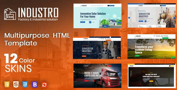 Industro - Factory & Industrial - Business Corporate