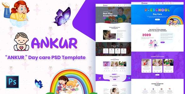 Ankur - Day Care PSD Template - Children Retail